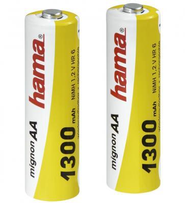 Аккумуляторная батарея Hama H-46569 Ni-МН AA 1300мАч 1.2В 2шт