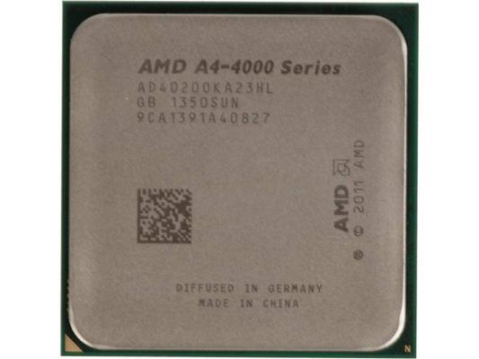 Процессор AMD A4 X2 4020 AD4020OKA23HL Socket FM2 OEM процессор amd a4 6320 fm2 oem