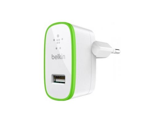 Сетевое зарядное устройство Belkin F8J052CWWHT USB 2.1A белый беспроводное зарядное устройство belkin boost up f7u027vfwht белый