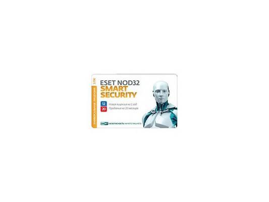 Антивирус ESET NOD32 Smart Security на 12 мес на 3ПК + продление на 20 мес карта NOD32-ESS-1220(CARD3)-1-1