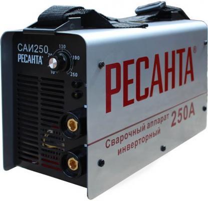 Аппарат сварочный Ресанта САИ 250 инверторный 65/6 аппарат сварочный ресанта саи 250 65 21
