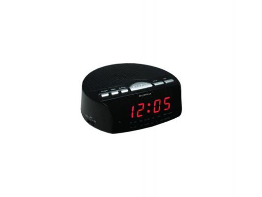 Часы с радиоприемником SUPRA SA-26FM black/red