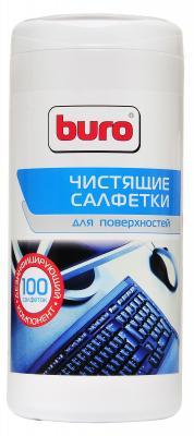 Фото - Влажные салфетки BURO BU-Tsurface 100 шт влажные салфетки buro bu tmix 65 шт