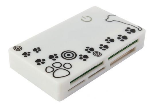 Картридер внешний PC Pet CR-215DWH USB2.0 CF/SD/microSD/MMC/RS-MMC/MS/MSduo/XD/microMS белый сумка для ноутбука pc pet pcp a9015bk