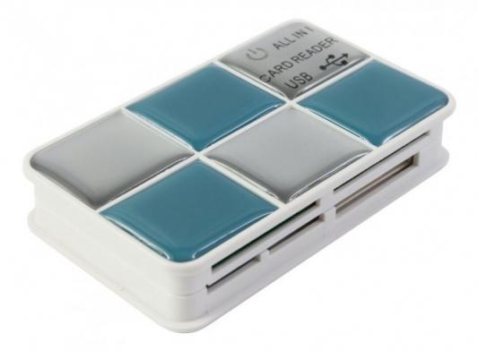 Картридер внешний PC Pet CR-217CBL 24-in-1 USB2.0 ext CF/SD/microSD/MMC/RS-MMC/MS/MSduo/XD/microMS голубой