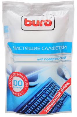 Чистящие салфетки BURO BU-Zsurface 100 шт салфетки чистящие для экранов buro bu tscrl