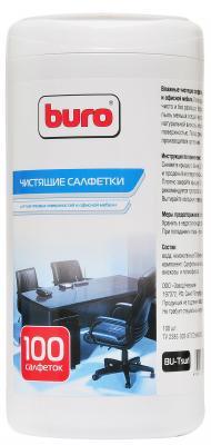 Влажные салфетки BURO BU-Tsurl 100 шт