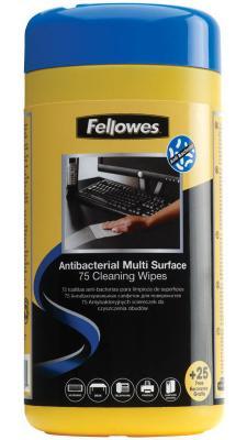 Влажные салфетки Fellowes FS-22109 100 шт влажные салфетки fellowes lamirel la 21617 01 24 шт