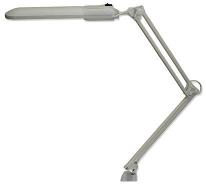 Купить Настольная лампа Трансвит Дельта серый 2G7 11 Вт струбцина FSD-11/40/1B-E-2G7