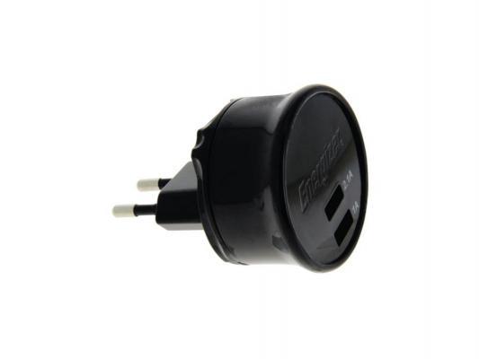 Зарядное устройство Energizer AC2UUNUMC2 microUSB 3.1А черный