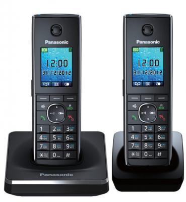 Радиотелефон DECT Panasonic KX-TG8552RUB черный радиотелефон dect panasonic kx prx120ruw черный белый