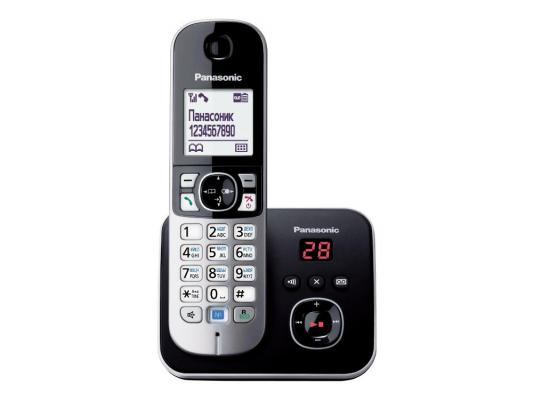 Радиотелефон DECT Panasonic KX-TG6821RUM серый металлик радиотелефон dect panasonic kx tgf310rum серый металлик