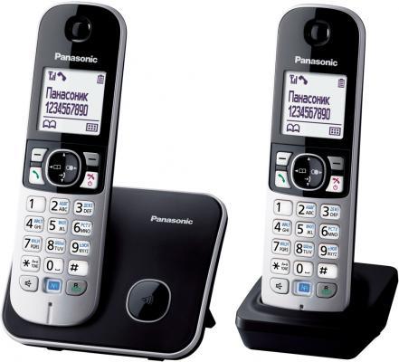 Радиотелефон DECT Panasonic KX-TG6812RUB черный радиотелефон dect panasonic kx tg8051rub черный