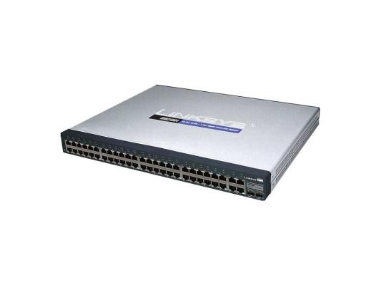 Коммутатор Cisco SF300-48 управляемый 48 портов 10/100Mbps 2x10/100/1000Mbps uplink  2xcombo GbLAN/SFP SRW248G4-K9-EU