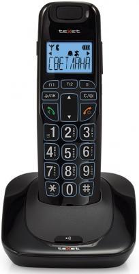 Радиотелефон DECT Texet TX-D7505А черный телефон проводной texet tx 201 белый
