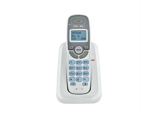 Радиотелефон DECT Texet TX-D6905A белый телефон проводной texet tx 201 белый