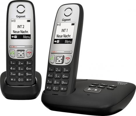 Радиотелефон DECT Gigaset A415 A DUO черный телефон беспроводной dect gigaset a415 white