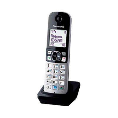 Дополнительная трубка Panasonic KX-TGA681RUB черный для KX-TGA68xx телефон ip panasonic kx nt553rub черный