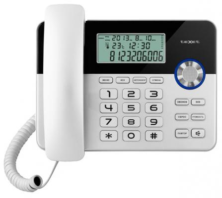Телефон Texet ТХ-259 черно-серебристый проводной телефон texet тх 219 grey
