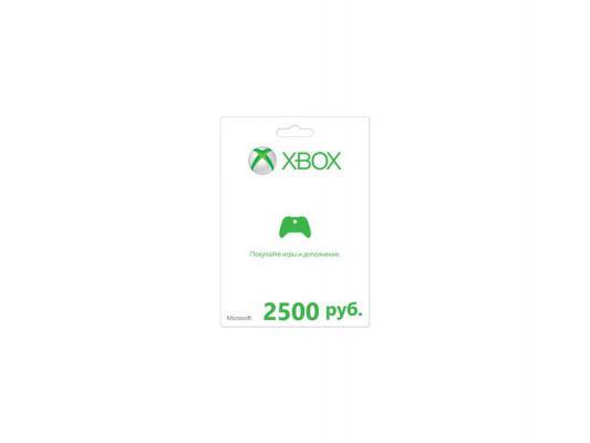 Карта оплаты Xbox Live 2500 RUB
