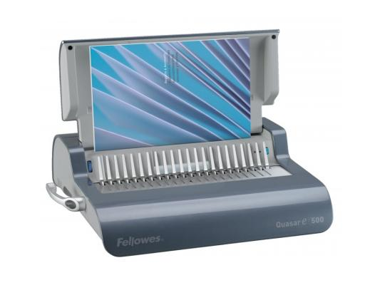 Переплетчик Fellowes QUASAR-E 500 A4 перфорирует 20 листов сшивает 500 листов пластиковые пружины 6-50мм электронный FS-5620901/CRC-56209