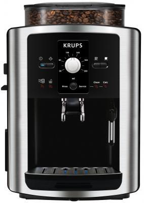 Кофемашина Krups Espresseria Automatic EA8010PE 1.8л серебристый/черный