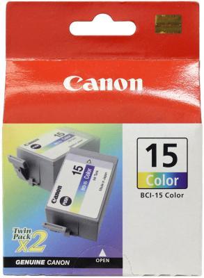 Картридж Canon BCI-15 для BJ-I70/80 цветной 8191A002 двойная упаковка чернильный картридж canon bci 15 black