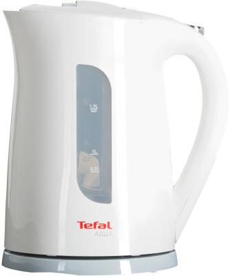 Чайник Tefal KO 270130 Aqua 2400 Вт 1.7 л пластик белый миксер ручной tefal tefal ht300188 250 вт белый желтый
