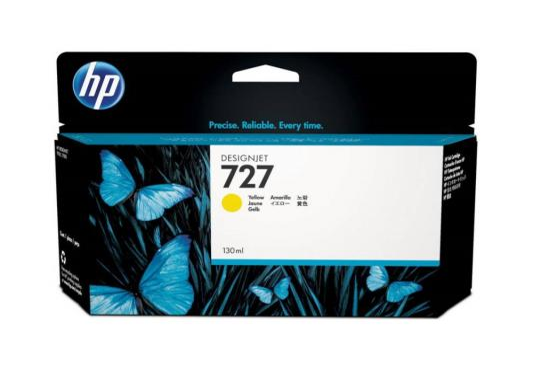 Картридж HP B3P21A №727 для HP Designjet T920 T1500 ePrinter series 130мл желтый цена