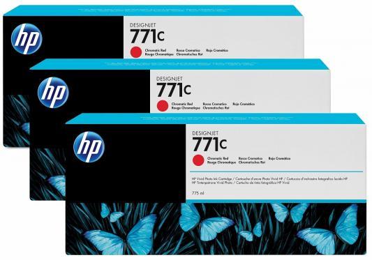 Картридж HP B6Y32A №711С для HP Designjet Z6200 775мл хроматический красный 3шт free shipping q5669 60664 for hp designjet t610 t1100 z2100 z3100 z3200 vacuum fan aerosol fan assembly original used