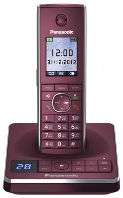 Радиотелефон DECT Panasonic KX-TG8561RUR красный радиотелефон dect panasonic kx tg6722rub черный