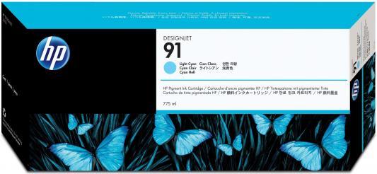 Картридж HP C9470A №91 для HP DJ Z6100 светло-голубой картридж hp c9483a 91 для hp dj z6100 голубой 3шт