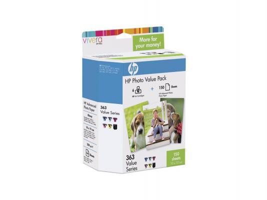 Картридж HP Q7967HE для HP PhotoSmart 3213 3313 8253 + бумага 10х15 210 г/м глянцевая 150л. hp c8721he 177 black для photosmart 8253 3213 3313