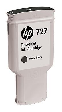 Картридж HP C1Q12A №727 для HP Designjet T920 T1500 T2500 300мл черный матовый картридж hp b3p20a 727 magenta для designjet t920 t1500 130ml
