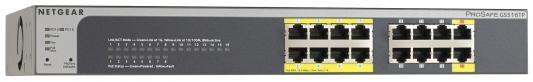 Коммутатор NETGEAR GS516TP-100EUS 16 портов 10/100/1000Mbps 8 портов PoE