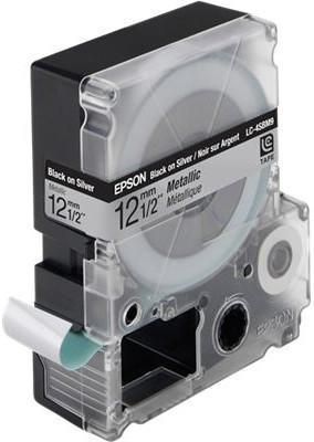 Лента Epson LC-4SBM9 для Epson LabelWorks LW-300/LW-400/LW-400VP/LW-700/LW-900P черный