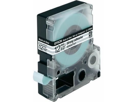Лента Epson LC-4TBW9 для Epson LabelWorks LW-300/LW-400/LW-400VP/LW-700/LW-900P черный