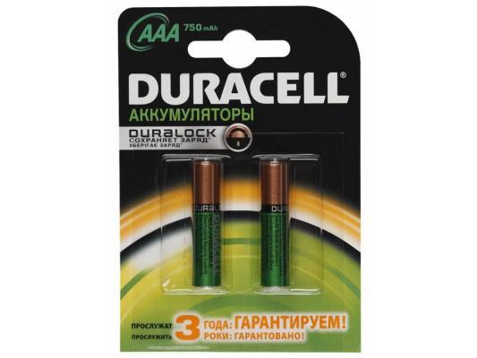 Аккумулятор Duracell HR03-2BL 750 mAh AAA 2 шт duracell б0001997