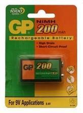 Аккумулятор GP 20R8H-BC1 200 mAh 6F22 1 шт pilot набор стержней для шариковой ручки bps gp цвет черный 12 шт fj gp m b 12