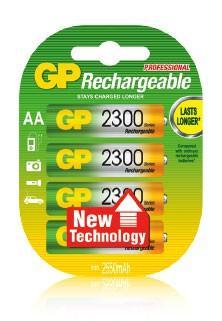 Аккумулятор GP 230AAHC-2CR4 2300 mAh AA 4 шт