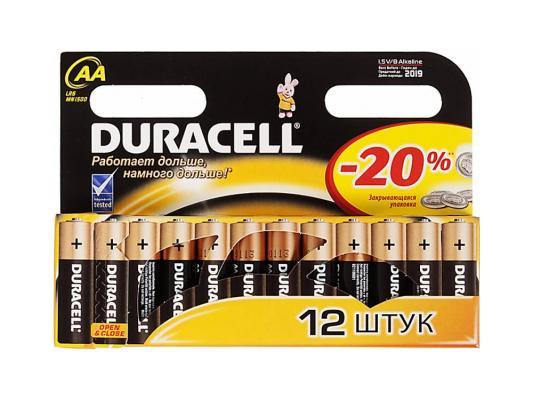 Батарейки Duracell Turbo MAX LR6-12BL AA 12 шт батарейки duracell lr6 4bl turbo max aa 4шт