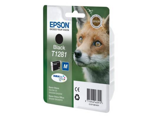 Картридж Epson C13T12814011 для S22 SX125 Black Черный