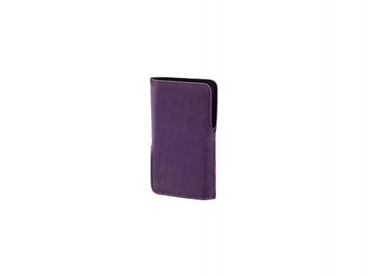 Чехол Hama Twin-Way Case универсальный 2 варианта извлечения велюр фиолетовый H-106705