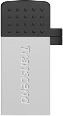 Флешка USB 32Gb Transcend On-the-Go TS32GJF380S серебристый