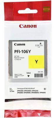 Картридж Canon PFI-106 Y для iPF6300S/6400/6450 желтый 6624B001 canon pfi 106 red