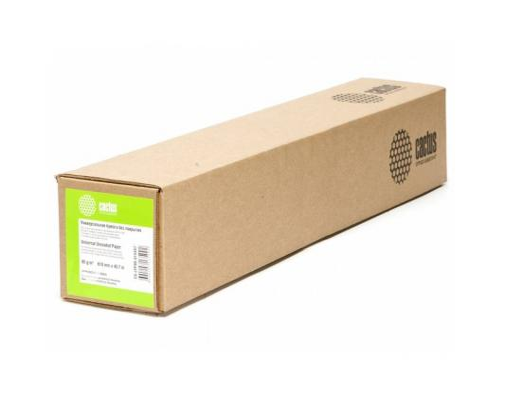 Бумага для плоттера Cactus CS-LFP90-610457 24 610мм х 45.7м 90г/м2 без покрытия втулка 50.8мм цена