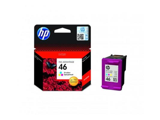 Картридж HP №46 CZ638AE для Deskjet Ink Advantage 2020hc Printer / 2520hc AiO трехцветный hp f6t40ae 46 комплект 2 шт hp cz637ae 1 шт hp cz638ae для dj ia 2520hc 2020hc