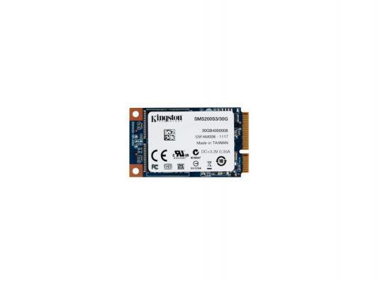 SSD Твердотельный накопитель mSATA 30GB Kingston SSDNow mS200 Read 550Mb/s Write 510Mb/s SMS200S3/30G