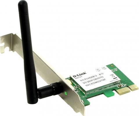 Беспроводной PCI адаптер D-Link DWA-525/B1A 802.11b/g/n 150Mbps 2.4GHz WEP WPA WPA2
