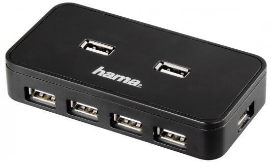 Концентратор USB 2.0 HAMA H-39859 7 x USB 2.0 черный концентратор usb 3 0 hama h 54544 4 х usb 3 0 черный серебристый